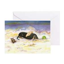 BT Dachsie Angel Greeting Card