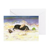 BT Dachsie Angel Greeting Cards (Pk of 20)