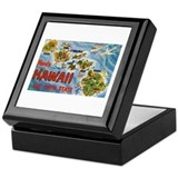 Hawaii HI Keepsake Box