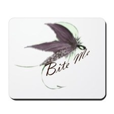 Bite me fly fishing mouse pad