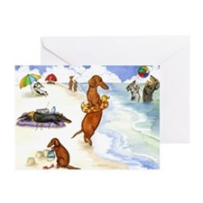 Beach Dogs Greeting Cards (Pk of 20)