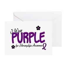 I Wear Purple 14 (Fibro Awareness) Greeting Card