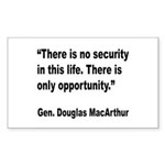 MacArthur Opportunity Quote Rectangle Sticker
