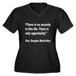 MacArthur Opportunity Quote (Front) Women's Plus S