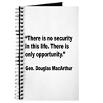 MacArthur Opportunity Quote Journal