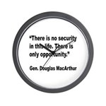 MacArthur Opportunity Quote Wall Clock