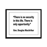 MacArthur Opportunity Quote Framed Panel Print