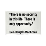 MacArthur Opportunity Quote Rectangle Magnet (10 p