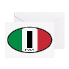Italy Oval Colors Greeting Card