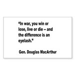 MacArthur Live or Die Quote Rectangle Sticker 10