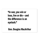 MacArthur Live or Die Quote Postcards (Package of