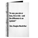 MacArthur Live or Die Quote Journal