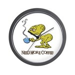 Cofee Alien Wall Clock