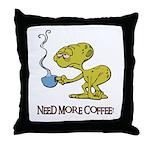 Cofee Alien Throw Pillow
