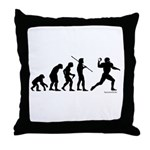 Football Evolution Throw Pillow