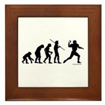 Football Evolution Framed Tile