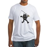 FROG FISHING Fitted T-Shirt-VIEW BACK