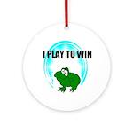 I PLAY TO WIN  Keepsake (Round)