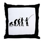Fishing Evolution Throw Pillow