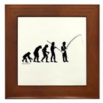 Fishing Evolution Framed Tile