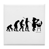 Barbecue Evolution Tile Coaster