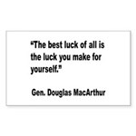 MacArthur Best Luck Quote Rectangle Sticker 10 pk
