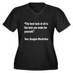 MacArthur Best Luck Quote (Front) Women's Plus Siz