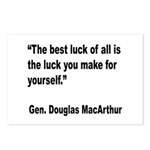 MacArthur Best Luck Quote Postcards (Package of 8)