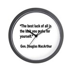 MacArthur Best Luck Quote Wall Clock