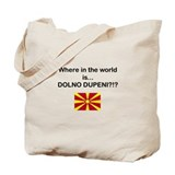 Macedonia - Where is Dupeni Prespa Tote Bag