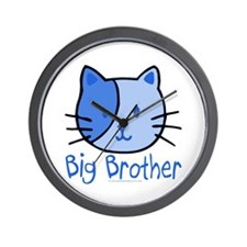 Cat Blue Big Brother Wall Clock