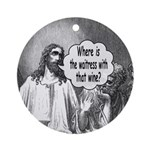 Jesus Wine Ornament (Round)