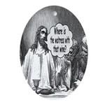 Jesus Wine Oval Ornament