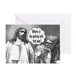Jesus Wine Greeting Card