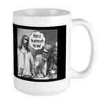 Jesus Wine Dark Large Mug