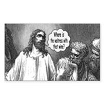 Jesus Wine Rectangle Sticker 10 pk)