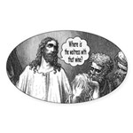 Jesus Wine Oval Sticker (10 pk)