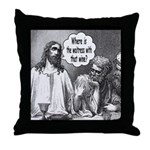 Jesus Wine Throw Pillow