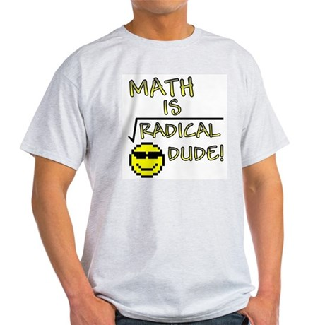 Math is Radical Ash Grey T-Shirt