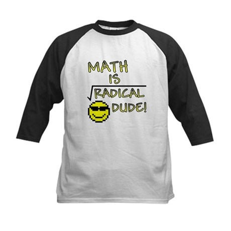 Math is Radical Kids Baseball Jersey