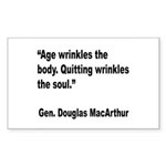 MacArthur Quitting Quote Rectangle Sticker 10 pk)