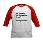 MacArthur Quitting Quote (Front) Kids Baseball Jer