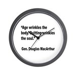 MacArthur Quitting Quote Wall Clock