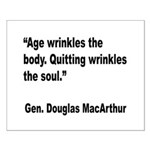 MacArthur Quitting Quote Small Poster