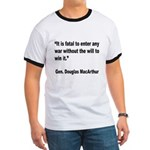 MacArthur Will to Win Quote (Front) Ringer T