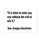MacArthur Will to Win Quote Postcards (Package of