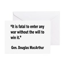 MacArthur Will to Win Quote Greeting Cards (Pk of