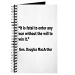 MacArthur Will to Win Quote Journal