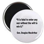 MacArthur Will to Win Quote Magnet