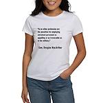 MacArthur Untrained Personnel Quote Women's T-Shir